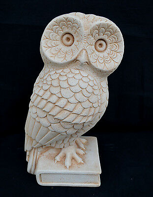 Owl Ancient Greek great sculpture symbol of knowledge and wisdom statue artifact