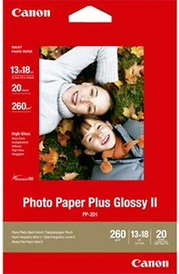 "Canon PP-201 2311B018 Photo Paper Plus Glossy II 13 x 18 5""x7"" 275gsm 20 Sheets"