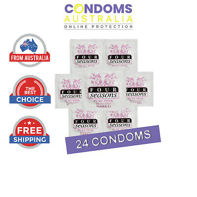 Four Seasons Naked Pure Pink Bulk Condom (24 Condoms) FREE SHIPPING