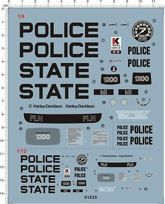 Decals 1/6  1/12  911 police FLH1200 (61829)