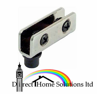 2 Glass Door Pivot Hinge For Inset Doors Bathroom Shower Polished Chrome 90º