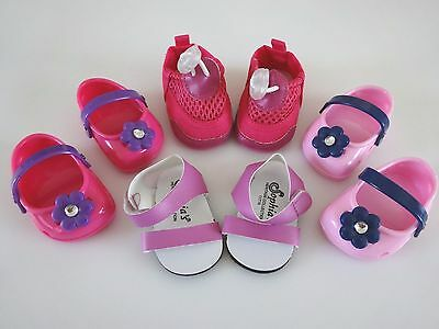 "NEW-DOLL SHOES_Clogs, Sandals, Water Shoes -Lot #35 fit 18""Doll such as AG Dolls"