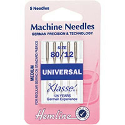 80/12 SIZE : Universal Machine Needles: Medium - HEMLINE - H10080