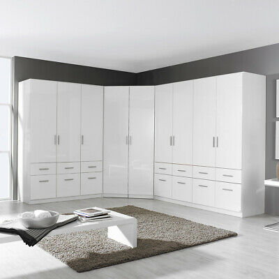 schrankkombi celle kleiderschrank schrank dreht renschrank in wei hochglanz eur 949 95. Black Bedroom Furniture Sets. Home Design Ideas