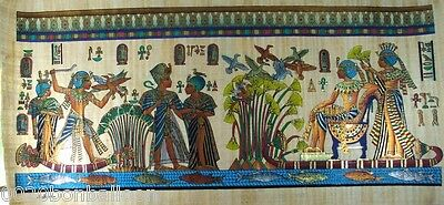 "6 Pharaoh Egyptian Gods Kings Original Hand Painted Papyrus 48""X24""(120x60 Cm)"