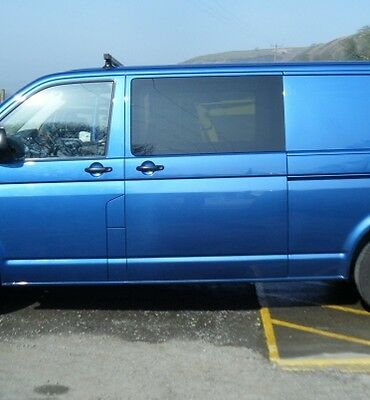 VW TRANSPORTER T5  2 x PRIVACY SIDE WINDOWs FULL FITTING KIT- SUPPLY ONLY *****