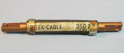 "Flex-Cable 350MCM 11.5"" Contact, 13"" Long Kickless Welding Cable Copper End Used"
