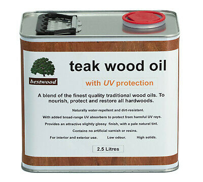 Teak Oil 2.5 Litres, with UV protection, THE FINEST QUALITY, buy direct