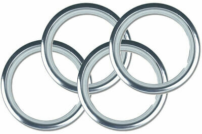 "14"" Premium Wheel Trim Rings SET OF 4 Brand New Chrome Plated Metal Band Ring"