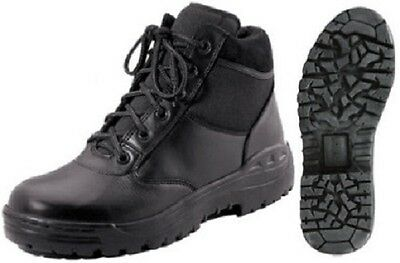 """Tactical Boots Black 6"""" Military Police Security EMT EMS First Responder 5054"""