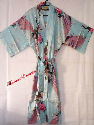Ladies / Womens Silk Kimono, Dressing Gown, Robe. One size fits all Regular