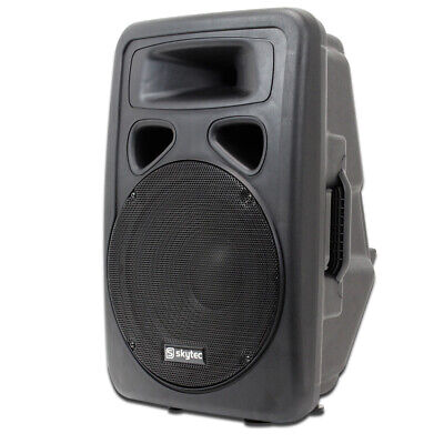 "Skytec SP1200A 12"" Active Powered Karaoke DJ PA Speaker Disco Wedge Monitor 600W"