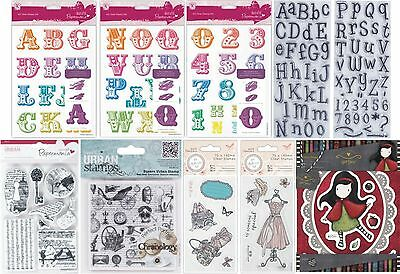 Docrafts Papermania Unmounted Urban Cling Clear Rubber Stamps - New Big Choice