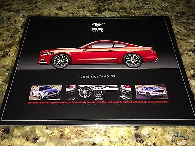 2015 Ford Mustang 50-year History 8-Cards (16-pgs) Original Dealer Illustrations