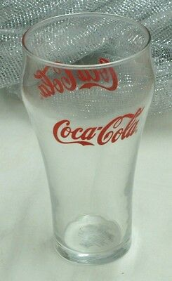 Coca-Cola®~Clear Contour Bell Design Glass~(Set of 4)~16-oz.~Glass~Libbey Glass