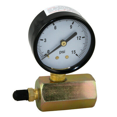 "15 PSI Gas / Air Test Gauge Pressure 3/4"" FPT Body"