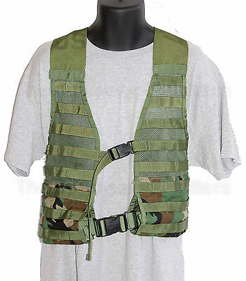 MOLLE SDS FLC Fighting Load Carrier Vest Woodland Camo US Military EXC