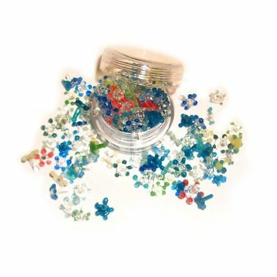 200 Small Glass Daisy Style Pipe Screens Assorted Pyrex Flower Smoking Screens