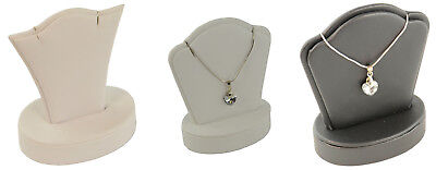 Leatherette Pendant Necklace Chain Earring Display Stand - Jewellery Displays