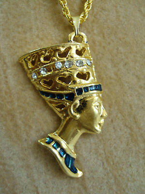 Nefertiti Hand Painted Pharaoh Costume Necklace Pendant Egyptian Jewelry 102