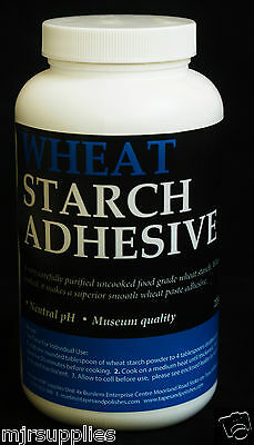 Pure Wheat Starch Neutral pH Bookbinding Book Repairs Paper Arts 225g (8 oz)