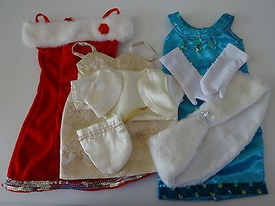 """NEW-DOLL CLOTHES -Lot #43 Doll Party Dress Sets [3] fit 18"""" Doll such as AG Doll"""