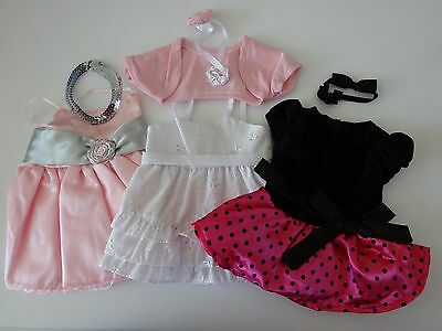 "NEW-DOLL CLOTHES -Lot #44 Doll Party Dresses [3] fit 18"" Doll such as AG Dolls"