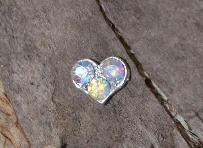 Jewellery Charm For  Living Floating Locket Pendant Charm 3 Crystal Heart