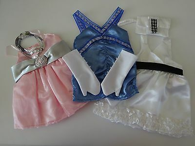 """NEW-DOLL CLOTHES -Lot #45 Doll Party Dress Sets [3] fit 18"""" Doll such as AG Doll"""