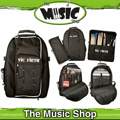 New Vic Firth VicPack Drummers Back Pack with Detachable Drum Stick Bag