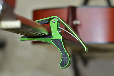 Green Metal Quick Change Trigger Tune Key Capo Clamp f Acoustic Electric Guitar