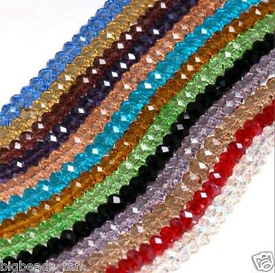 A string of flat round facted crystal beads, 8x6,10x8mm: 72pcs, free 1st class