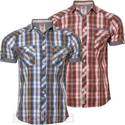 Tokyo Laundry Mens Colton Bright Cotton Shirt With Short Sleeves Regular Fit Top