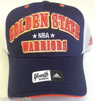 united kingdom detailed look huge inventory NBA GOLDEN STATE Warriors Adidas Youth Velcroback Curve Brim Cap ...