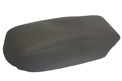 Fits 01-04 Ford Escape Console Lid Armrest Cover Synthetic Leather Gray