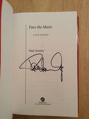 SIGNED by Paul Stanley Face the Music : A Life Exposed HC 2nd KISS Starman + Pic