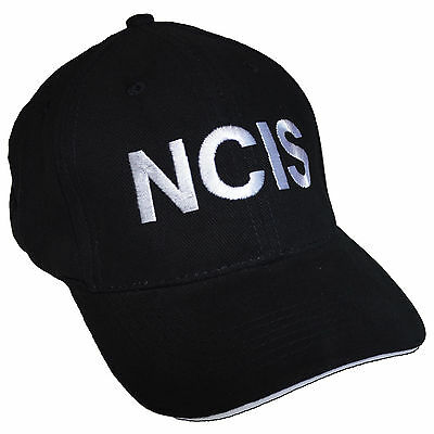 NCIS Embroidered Sandwich Peak Baseball Cap - Retro Crime Police Fancy Dress Hat