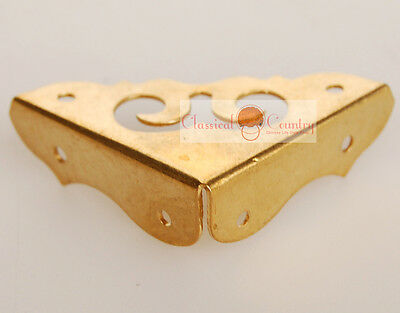 4 CC Plain CHINESE BRASS HARDWARE TRUNK SIDE PLATE1.15""