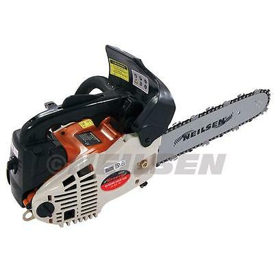 """12"""" & 20"""" Neilsen 58cc Petrol Chainsaw Complete With 2 x Bars, Chains & Covers"""