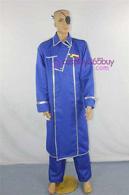 FullMetal Alchemist King Bradley Cosplay Costume include eyepatch