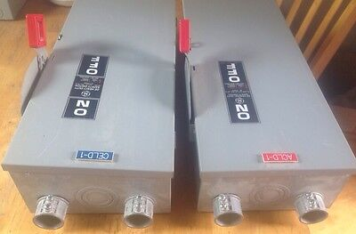 GE Heavy Duty Safety Switch 100 Amp 240V 30 HP FUSED!!!
