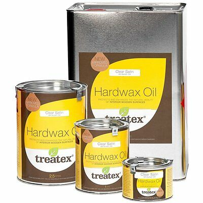 Treatex Hard Wax Oil 008 Clear Satin For Wooden Floors/Doors/Furniture/Worktops