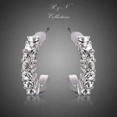 Classic Platinum Plated Made With Swarovski Austrian Crystal Stud Earring E247