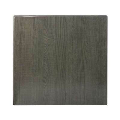 New Table Top Restaurant Cafe Antiscratch Isotop Dining Outdoor 60cm Sq Dark Oak
