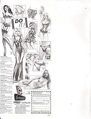 Frederick's of Hollywood Lingerie Order Form Vintage 1980 Magazine Print Ad