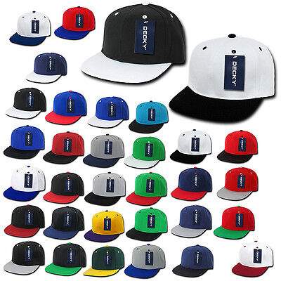 Other Baseball & Softball Blank Plain Navy Blue Snapback Flat Bill Solid Hat Cap Adjustable Acrylic Classi