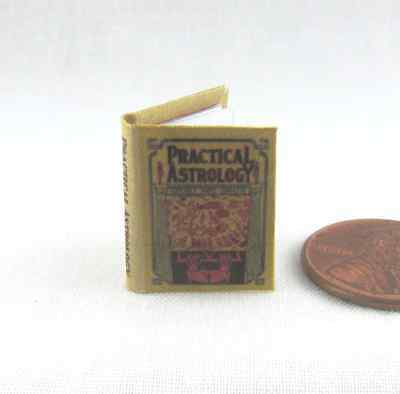 PRACTICAL ASTROLOGY ILLUSTRATED READABLE Miniature BOOK Dollhouse 1:12 SCALE