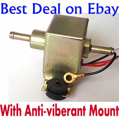 Universal 12V Electric Fuel Pump Universal For Car Boats Van Tractor FREE Unions