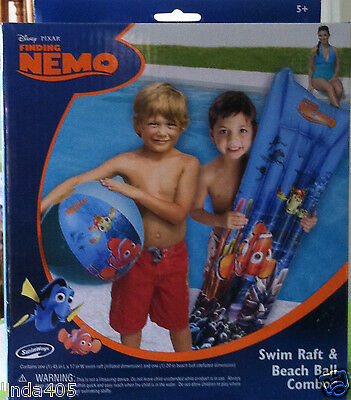 "Swimways Disney Finding Nemo 45"" Swim Raft & Matching Beach Ball Set"