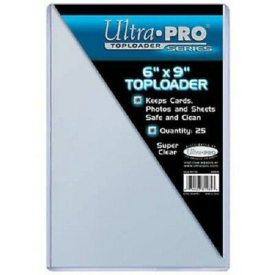 1 Pack (25) Ultra Pro 6 x 9 Toploader Postcard Photo Holders Storage Protection
